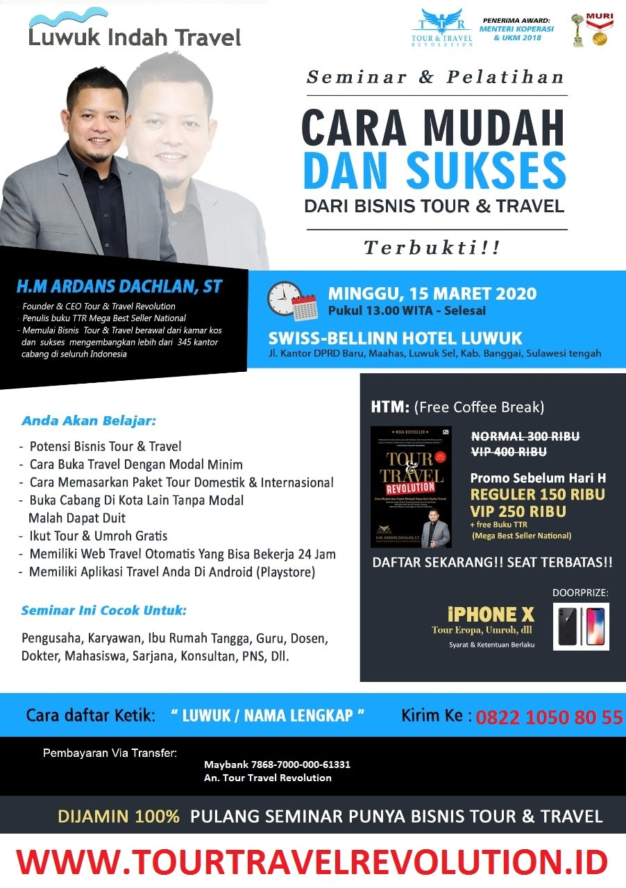 Seminar Tour travel Revolution Luwuk