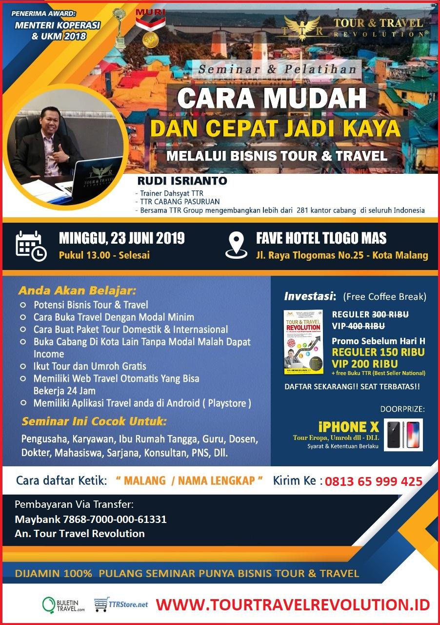 Seminar Tour travel revolution Malang