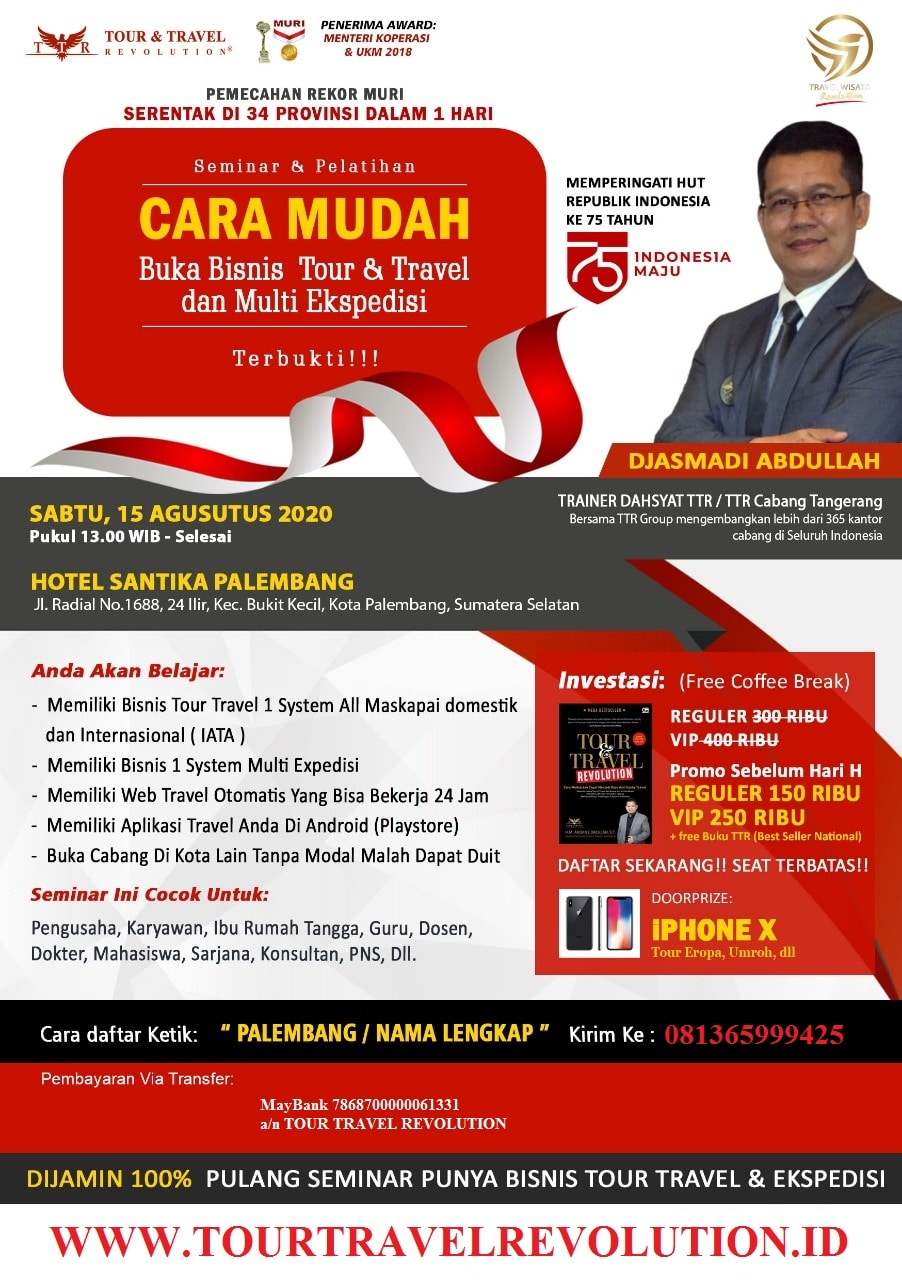 Seminar Travel Revolution Palembang Sumsel